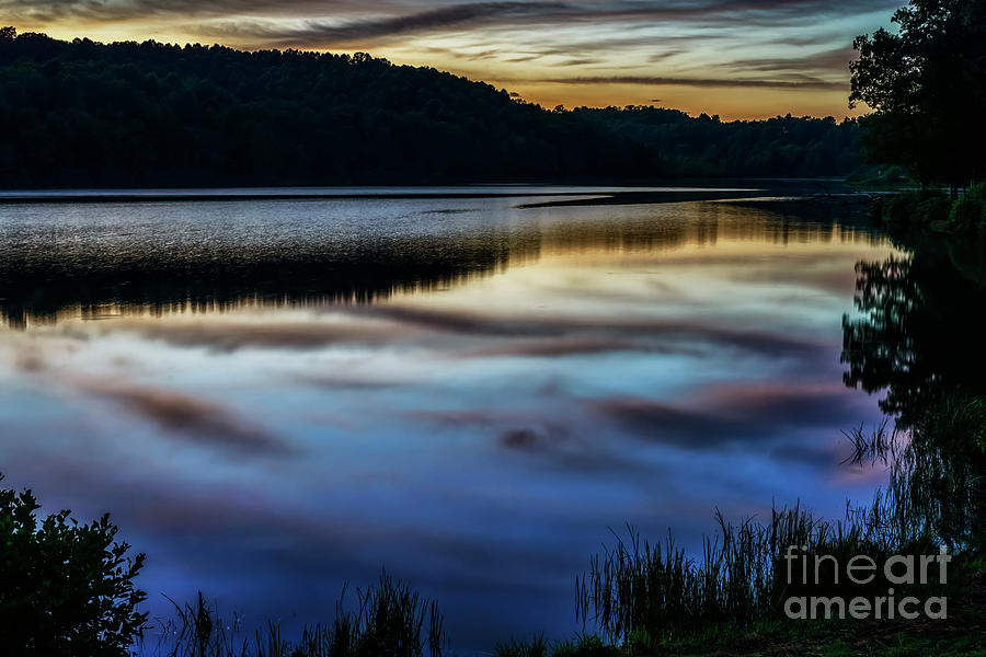 Sunset Reflection on the Lake by Thomas R Fletcher