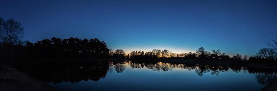 Sunset Reflections upon Diebert Park - Florence Alabama Winter by James-Allen