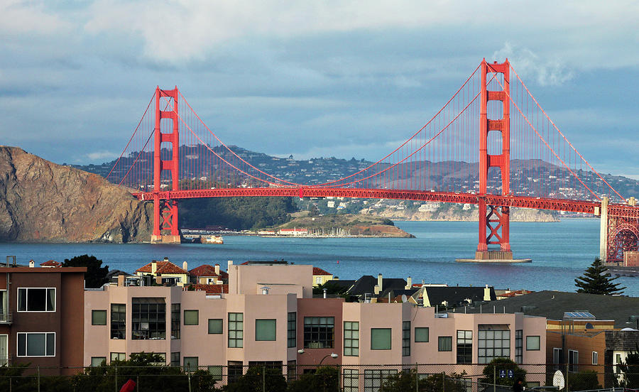 Sunset San Francisco Bay Golden Gate Photograph by Stickney Design