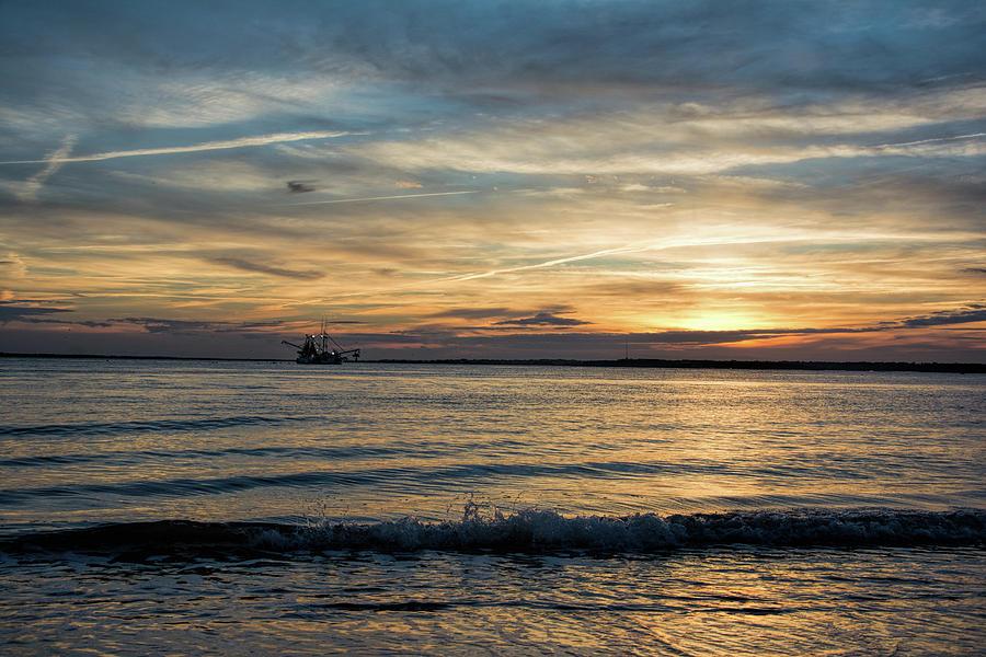 Sunset Shrimpin by Ed Waldrop