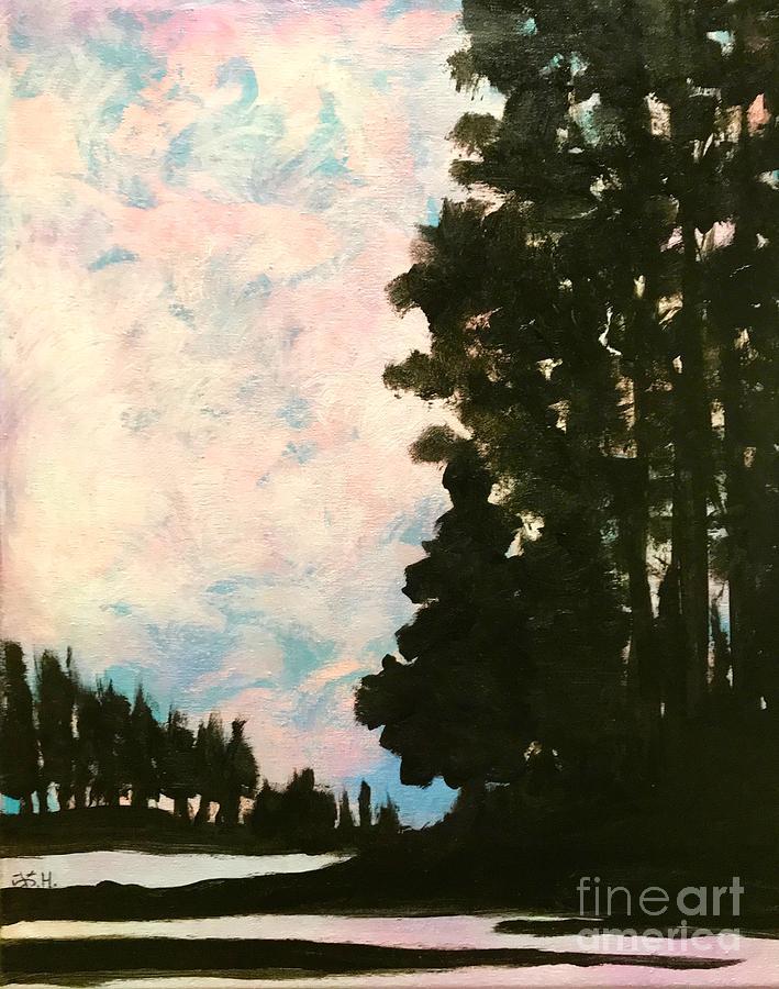 Sunset Painting - Sunset Sky by Wonju Hulse