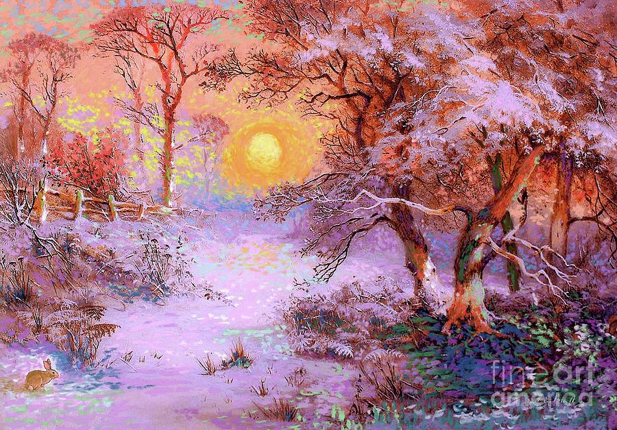 Sun Painting - Sunset Snow by Jane Small