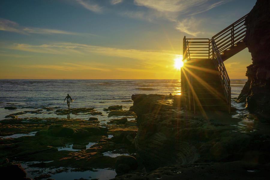 Sunset Stairway Sensation by Richard A Brown