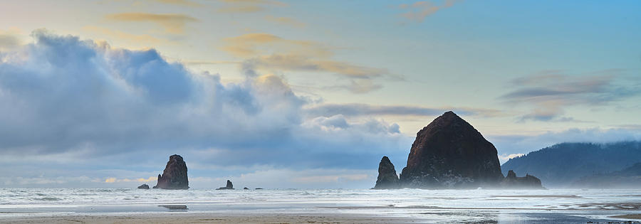 Sunset Storm, Haystack Rock, Canon Beach, Oregon Coast by TL Mair