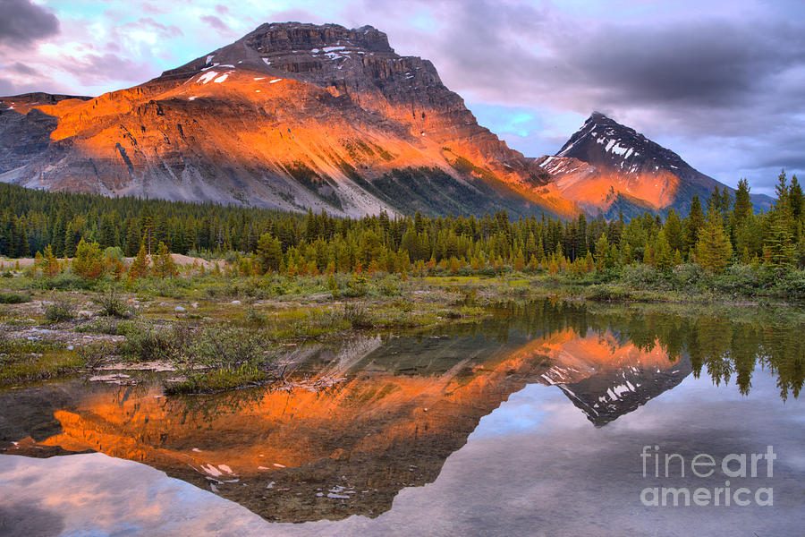 Sunset Stripes Across The Rockies by Adam Jewell