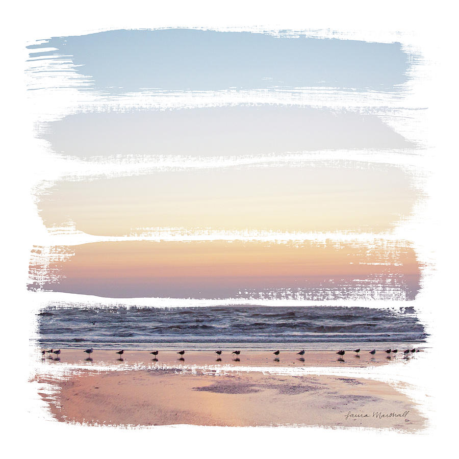 Beaches Painting - Sunset Stripes I by Laura Marshall