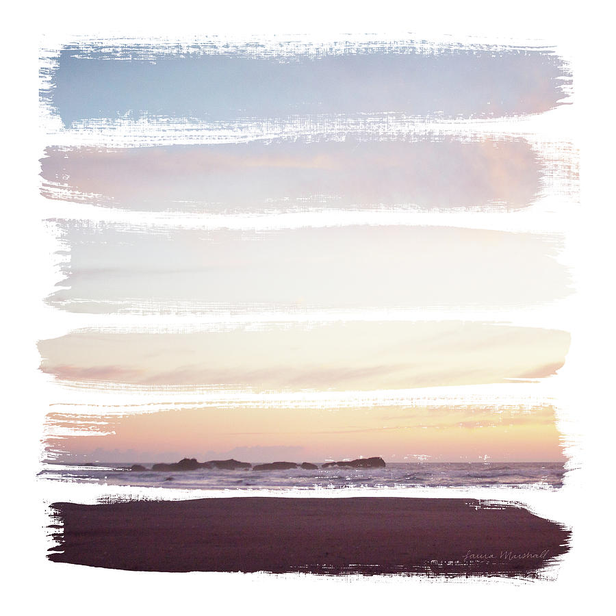 Beaches Painting - Sunset Stripes IIi by Laura Marshall