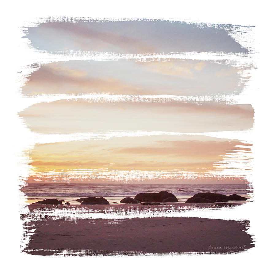 Beaches Painting - Sunset Stripes Iv by Laura Marshall