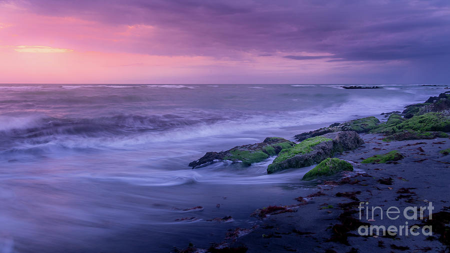 Gulf Photograph - Sunset Surf On The Gulf Of Mexico, Venice, Florida by Liesl Walsh