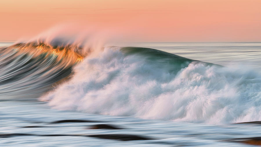 Sunset Surf, Rockport MA. by Michael Hubley