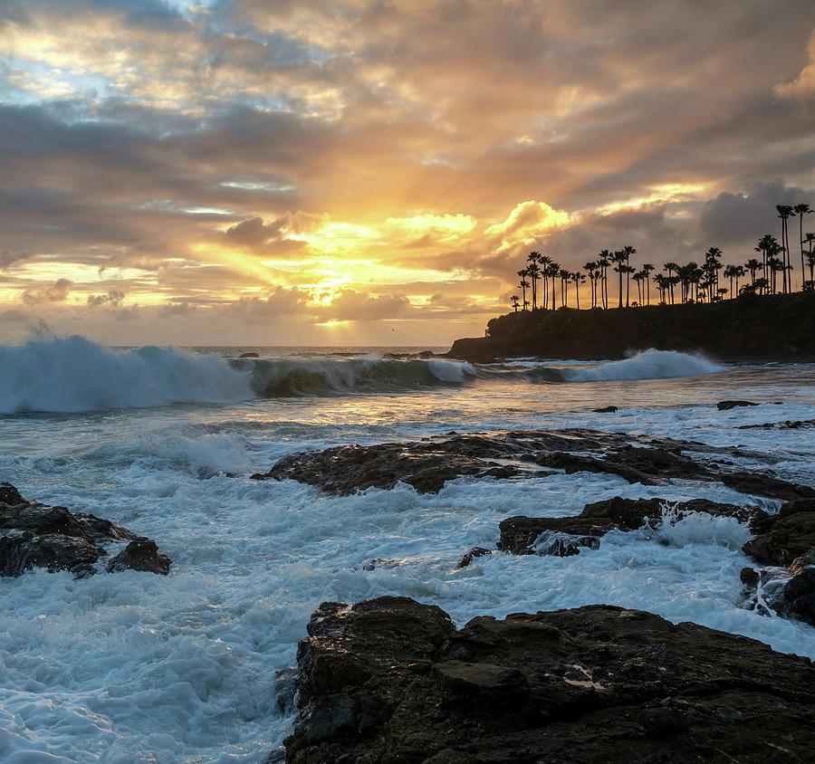 Sunset Surf Shaws Cove by Cliff Wassmann
