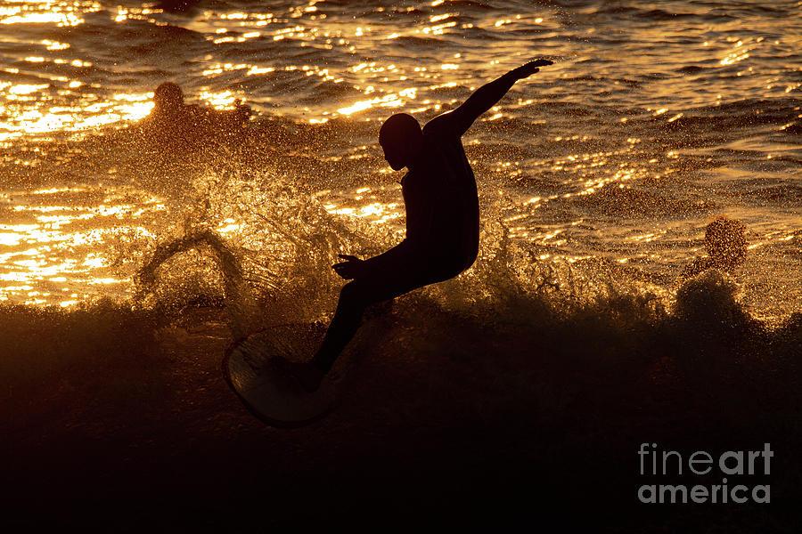 Surfer Photograph - Sunset Surfer 5159 by Craig Corwin