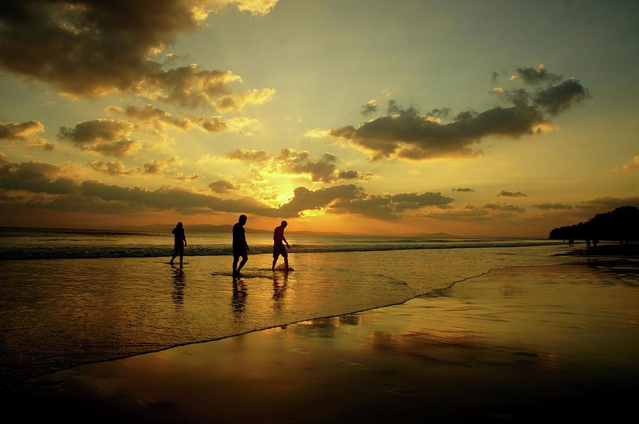 Sunset Swimming Photograph by Nigel Killeen