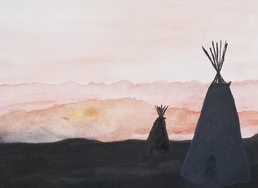 Sunset Tepees  by KRISTIN MCDONNEL