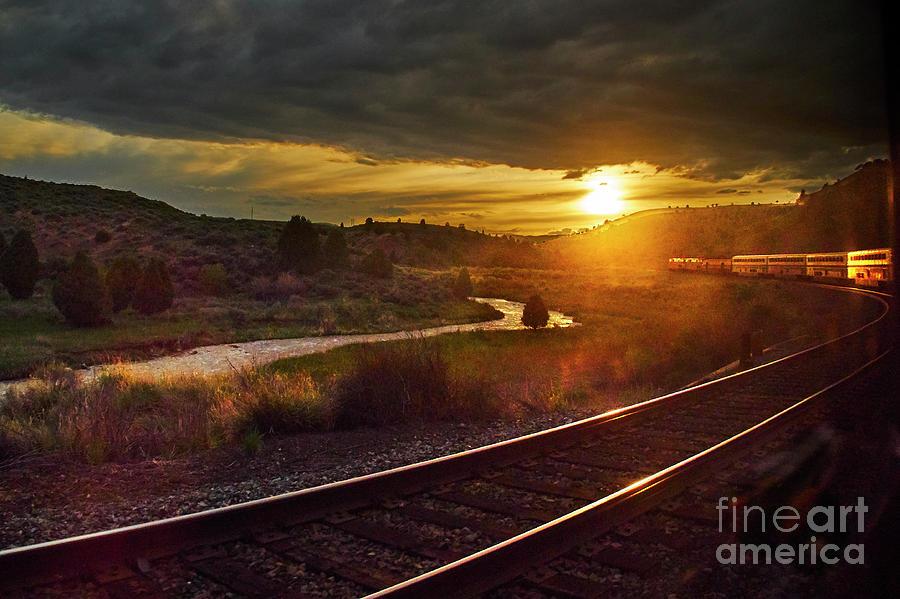 Sunset Train by Steve Ondrus