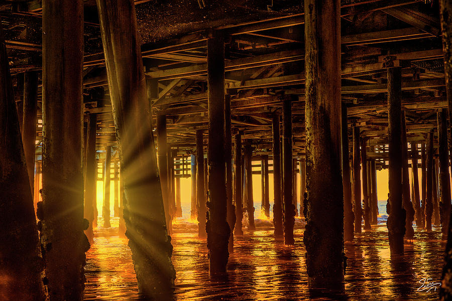 Sunset Under The Pier by Endre Balogh