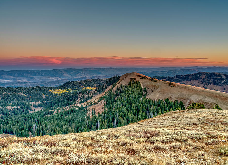 Sunset View from Logan Peak by Roderick Bley