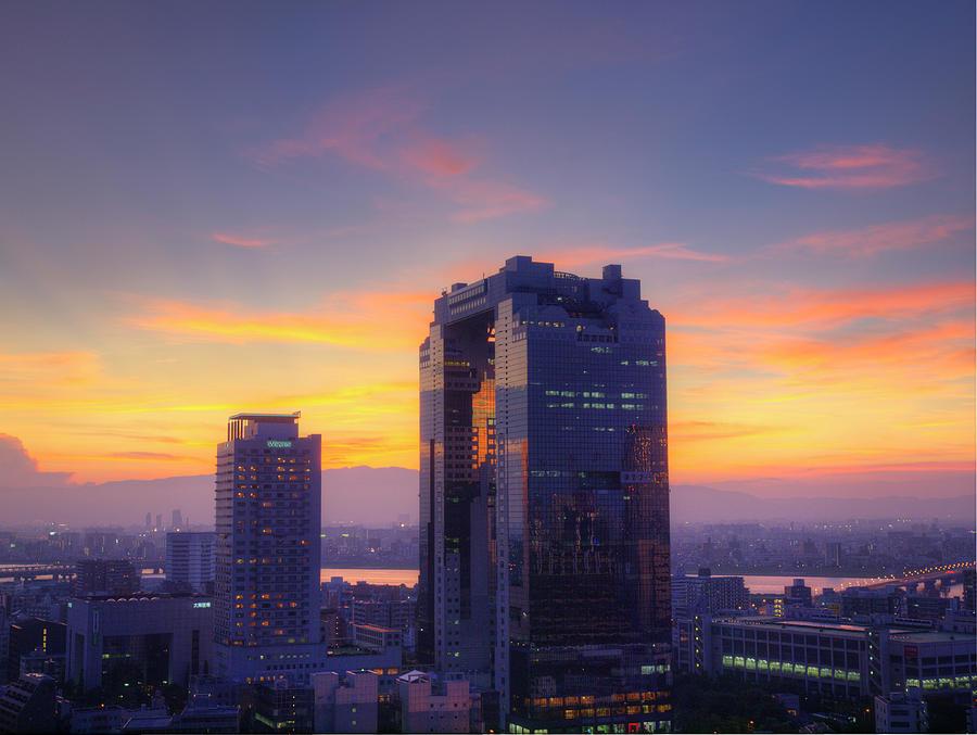 Sunset View From Osaka Station Photograph by Tetsuhiro Kikuchi