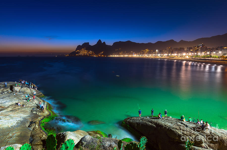De Photograph - Sunset View Of Ipanema In Rio De by Catarina Belova