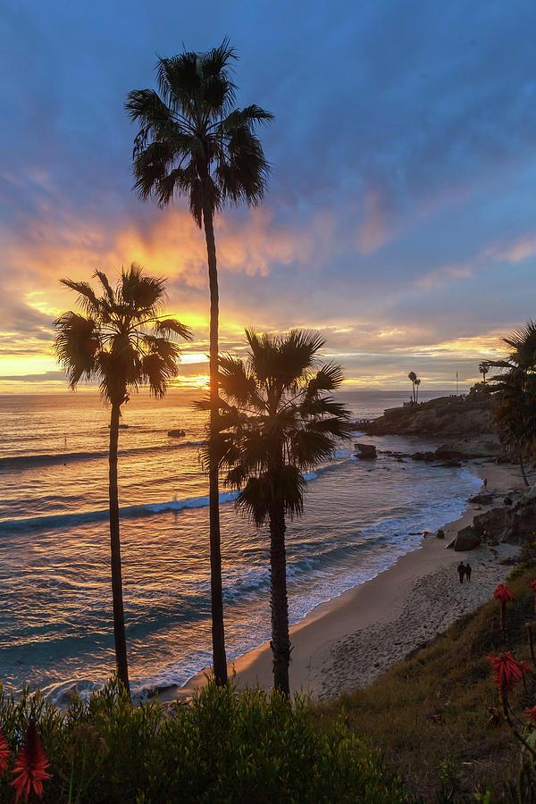 Sunset Walk Rockpile Beach by Cliff Wassmann