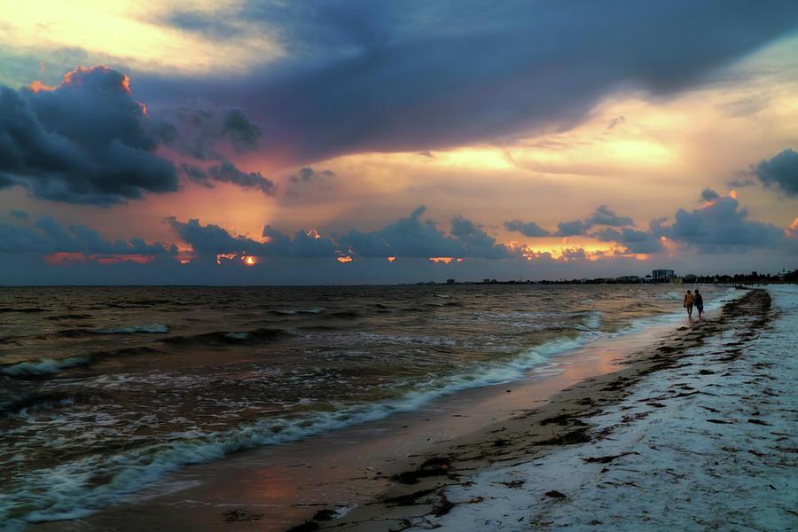 Florida Photograph - Sunset Walk by Tom Mc Nemar