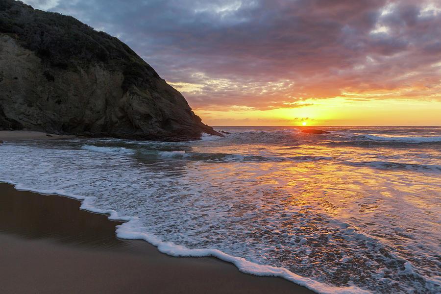 Sunset Waves Dana Point by Cliff Wassmann