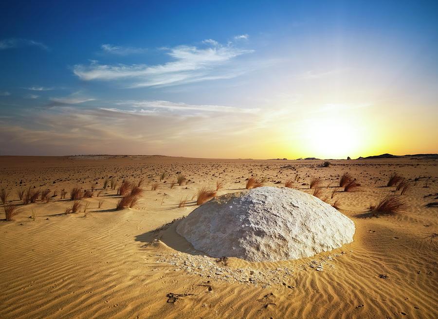 Sunset White Desert Photograph by Cinoby