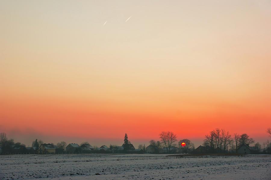 Sunset, winter by Anna Kluba