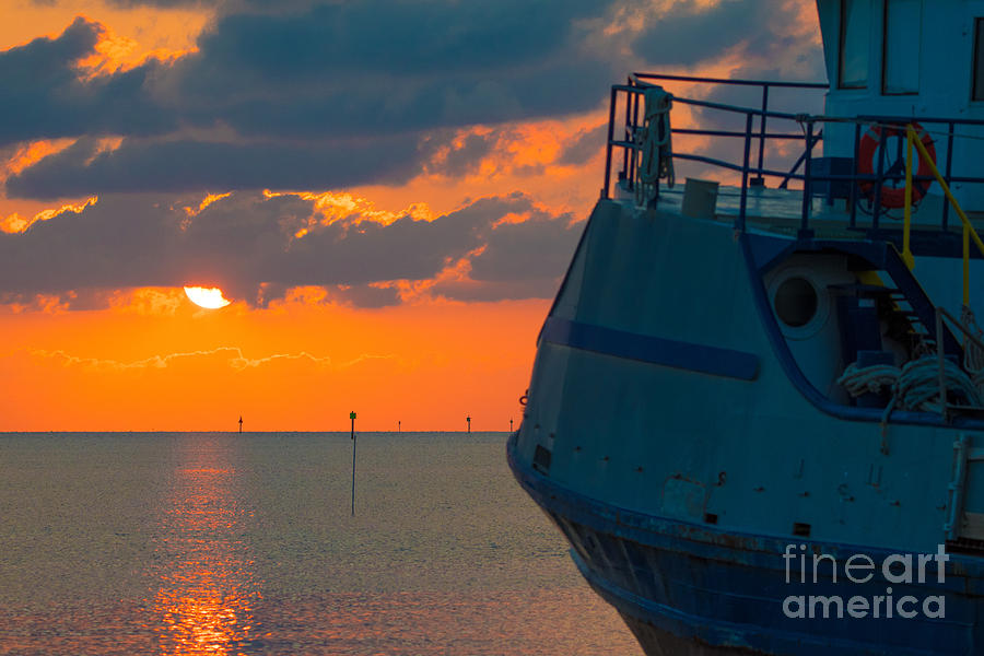 Sunset with Ship by Metaphor Photo
