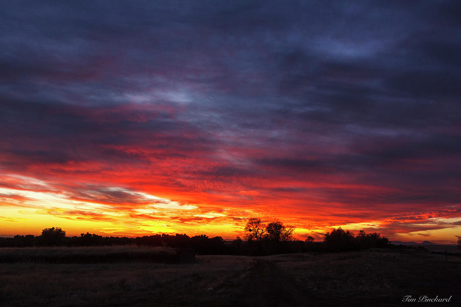 Sunset with stunning colors. by Timothy Pinckard