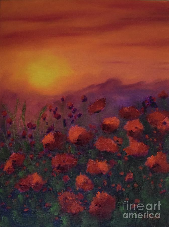 Sunsets and Poppies II by Barrie Stark