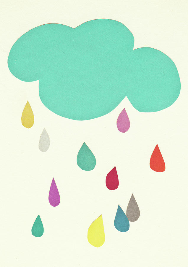 Clouds Mixed Media - Sunshine and Showers by Cassia Beck