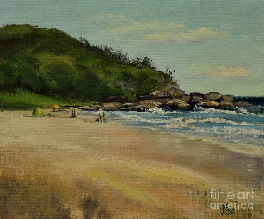 Sunshine Beach Noosa Heads Painting by Chris Hobel