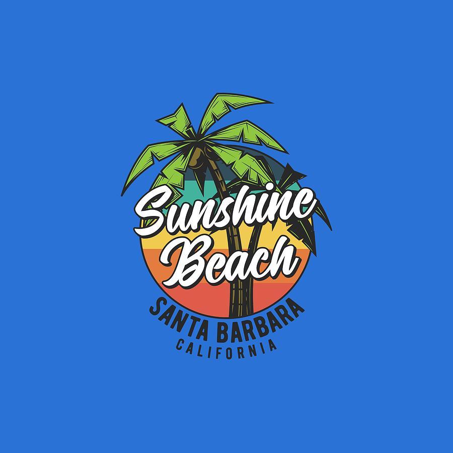 Sunshine Beach Santa Barbara California by Johanna Hurmerinta