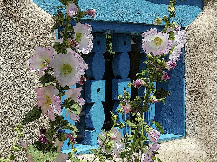 Sunshine Hollyhocks by WiseWild57