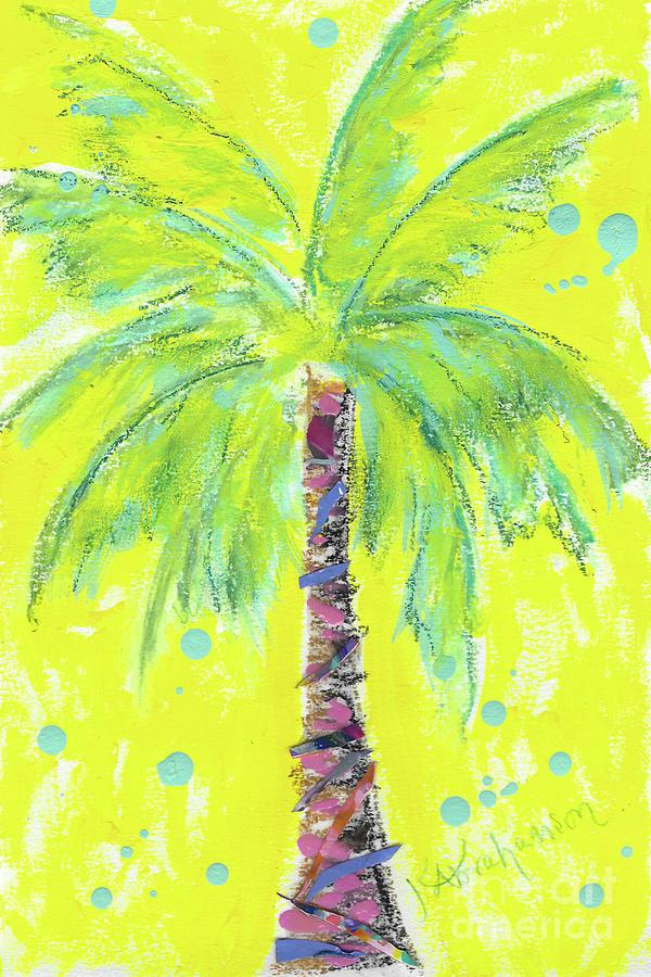 Sunshine Palm Tree Painting by Kristen Abrahamson