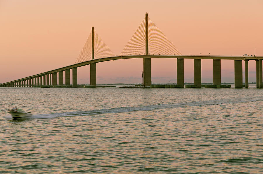 Sunshine Skyway Bridge Photograph by Ixefra