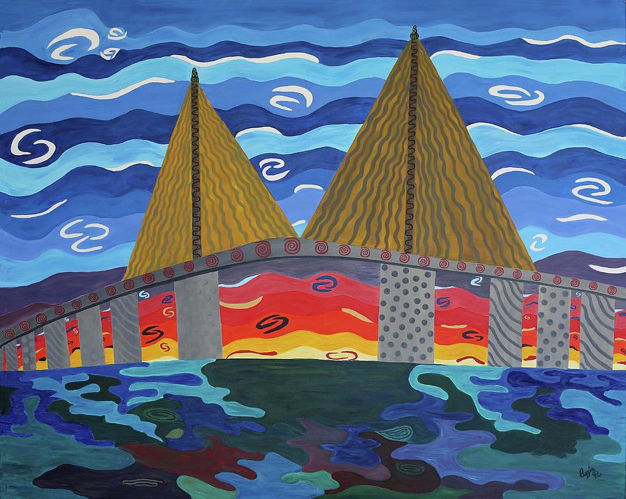 Sunshine Skyway Bridge, St. Petersburg FL by Stephanie Agliano