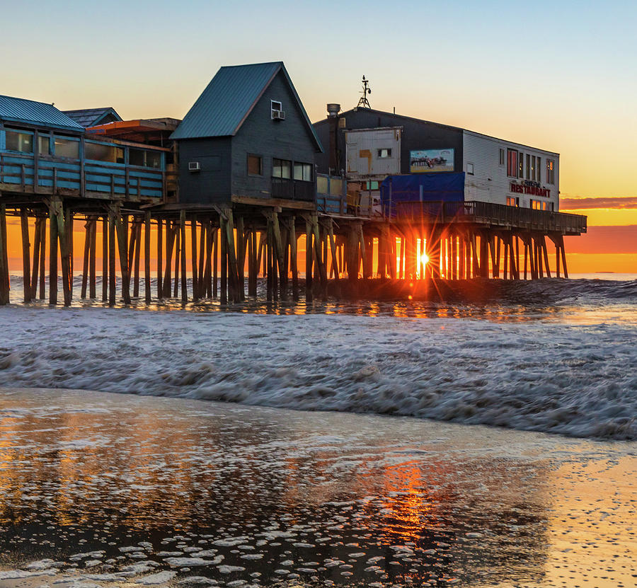 Sunstar At Pier Patio Old Orchard Beach by Dan Sproul