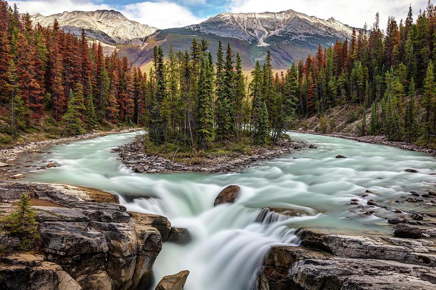 Sunwapta falls in Jasper National Park by Pierre Leclerc Photography