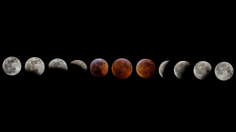 Super Blood Wolf Moon Eclipse Composite by Robbie Bischoff