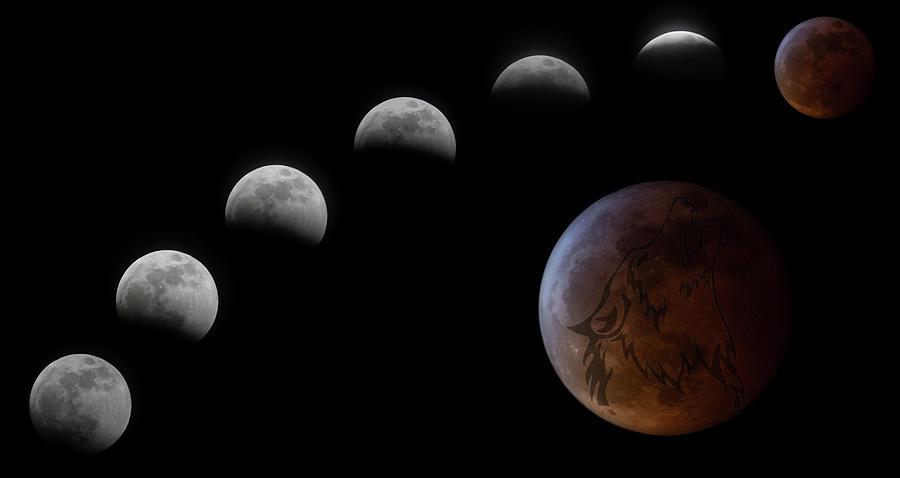 Super Blood Wolf Moon Photograph