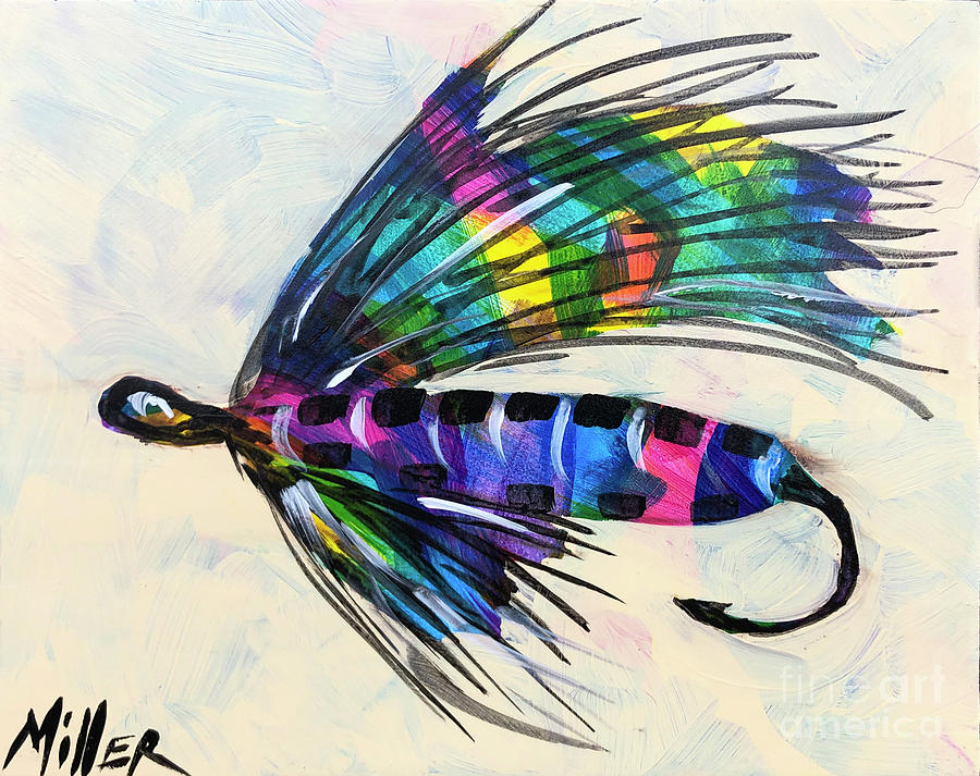 Fishing Fly Painting - Super Fly I by Tracy Miller