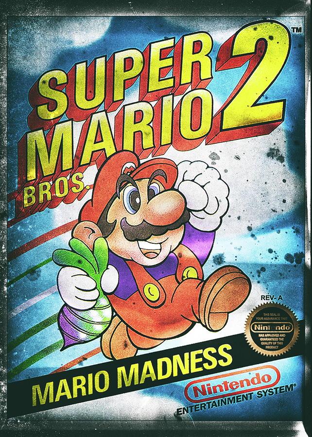 Super Mario Bros 2 Nintendo Nesve Digital Art By Benjamin Dupont