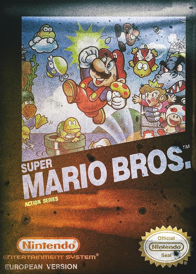 Super Mario Bros Nintendo Nes Digital Art By Benjamin Dupont