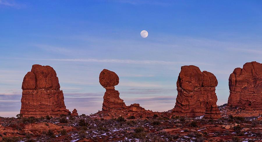 Super Moonrise at Balanced Rock by Dan Norris