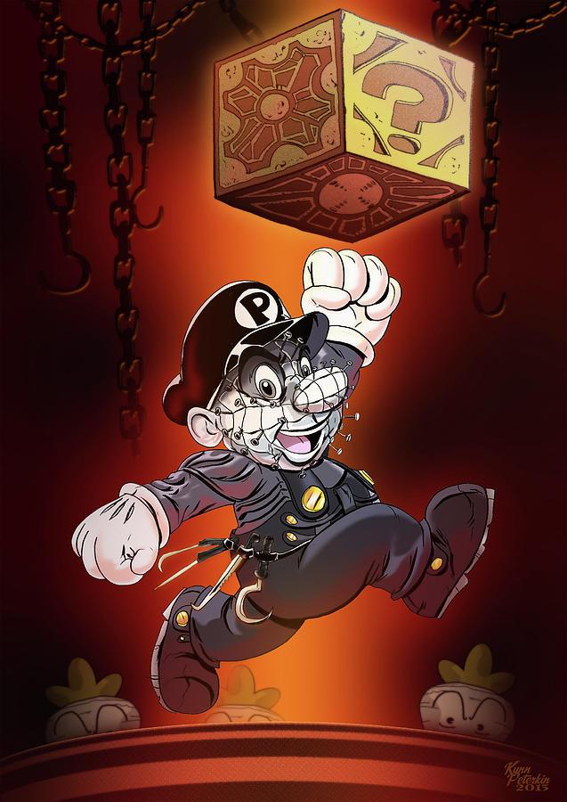 Horror Digital Art - Super Pinhead Bros by Kynn Peterkin