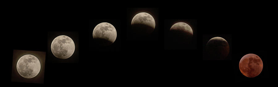 Super Wolf Blood Moon Eclipse Sequence by Jim Dollar