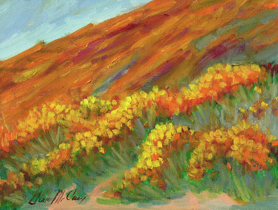 Superbloom at Lake Elsinore by Diane McClary