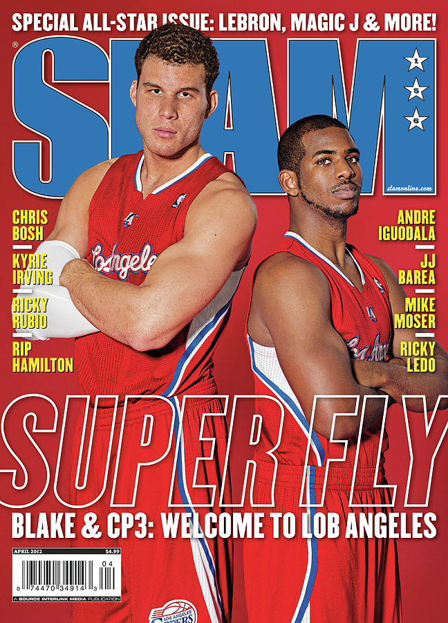 Superfly: Blake & CP3: Welcome to Lob Angeles SLAM Cover Photograph by Atiba Jefferson
